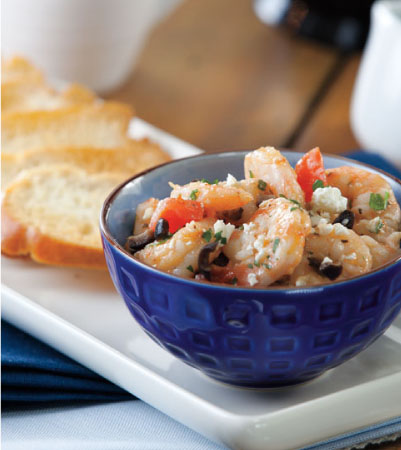 Greek-Style Shrimp Crostini