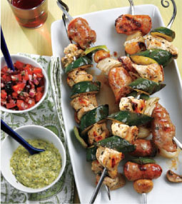 Italian Sausage, Pepper & Onion Kabobs