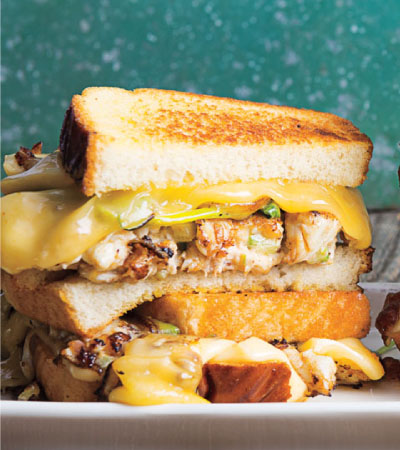Jumbo Lump Crab Salad & Cheddar Grilled Cheese