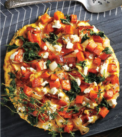 Open-Faced Butternut Squash & Kale Omelet