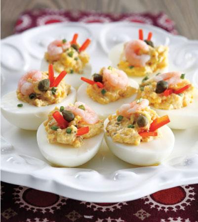 Shrimp Deviled Eggs